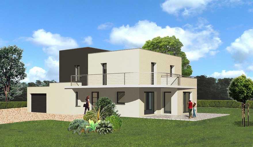 maison toit plat avec balcon ploufragan lebras didier. Black Bedroom Furniture Sets. Home Design Ideas