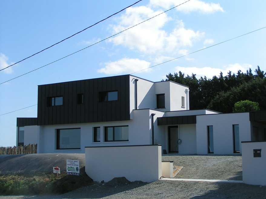 maison contemporaine vue mer a langueux