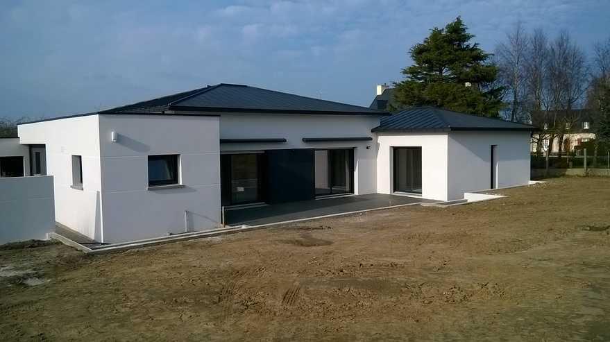 R alisation d 39 une maison type plein pied contemporaine for Realisation maison contemporaine