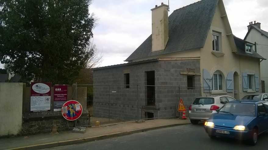 avancement extension contemporaine habitation - saint-brieuc