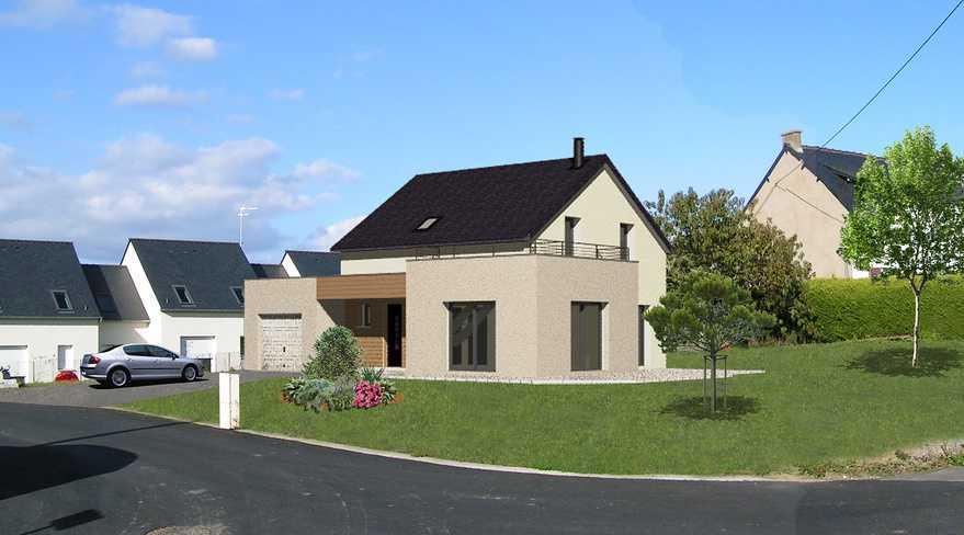 maison avec toiture terrasse lebras didier. Black Bedroom Furniture Sets. Home Design Ideas