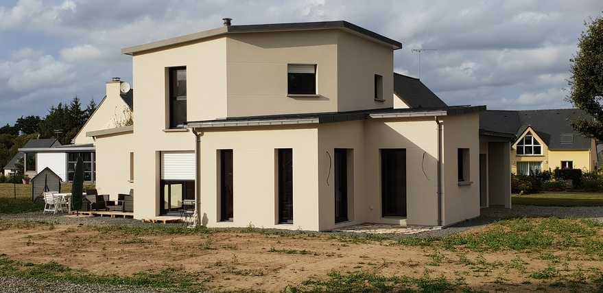 construction maison contemporaine - secteur de lamballe