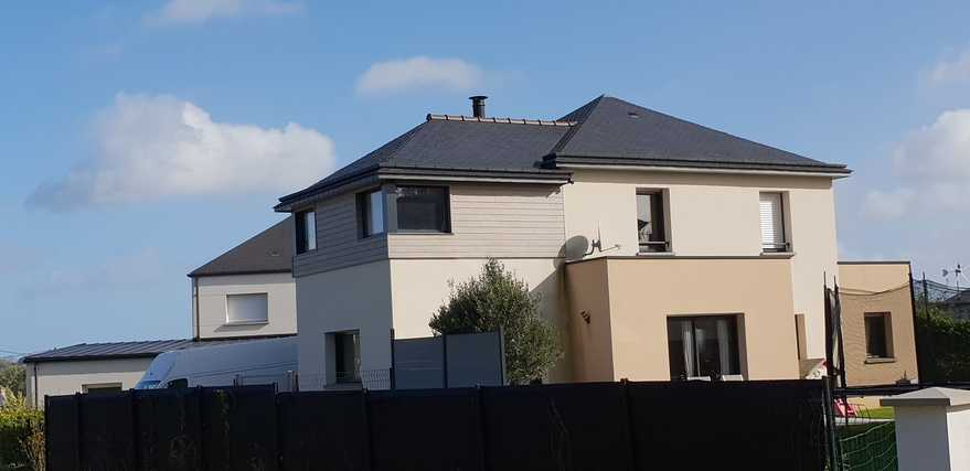 sur-elevation ossature bois sur maison contemporaine - hillion (22)