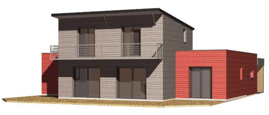 Maison ossature bois douglas red cedar ou de couleur for Agessa ou maison des artistes