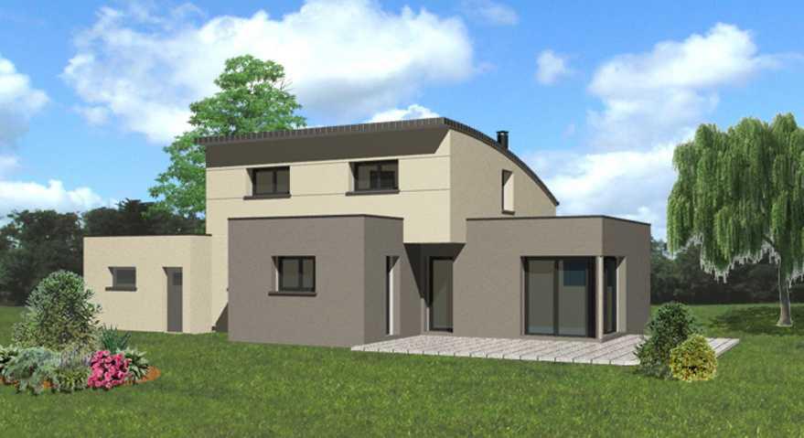 maison toit plat et monopente zinc quartz pl rin lebras didier. Black Bedroom Furniture Sets. Home Design Ideas