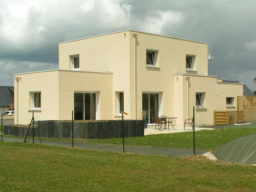 maison contemporaine toit plat a lamballe