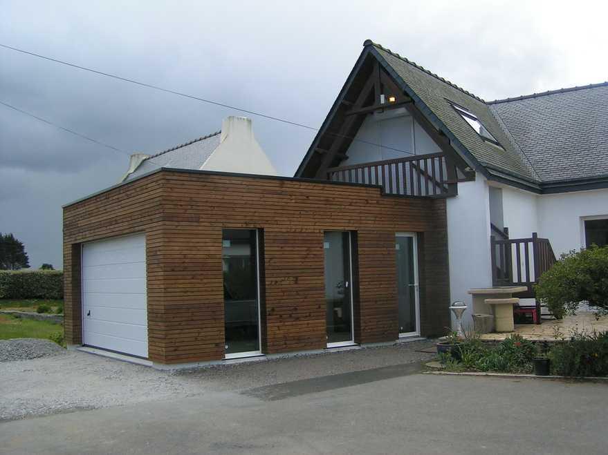 extension ossature bois sur maison a hillion