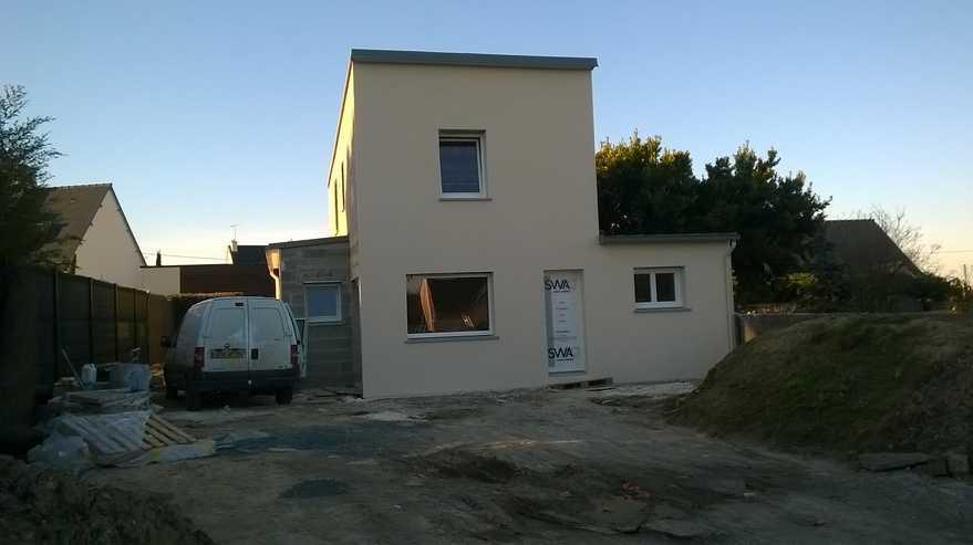 maison contemporaine en construction