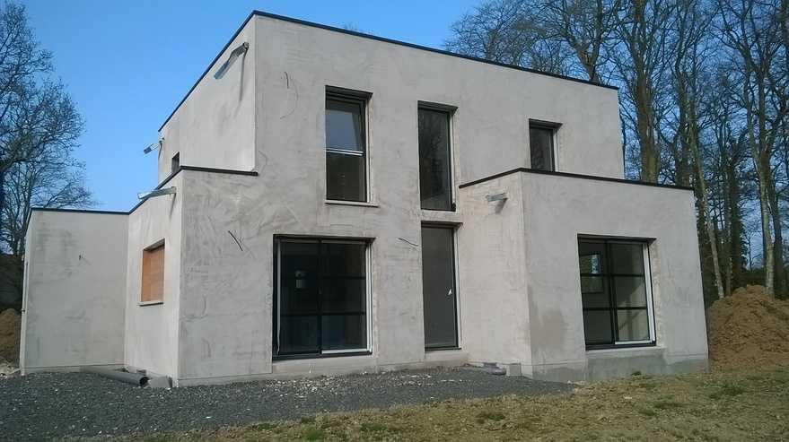 chantier de maison contemporaine