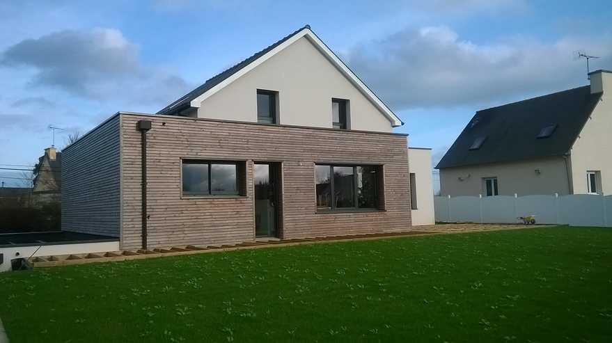 maison contemporaine- ossature bois - hillion