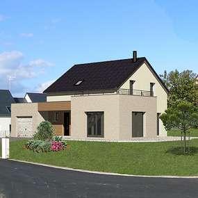 maison avec toiture terrasse