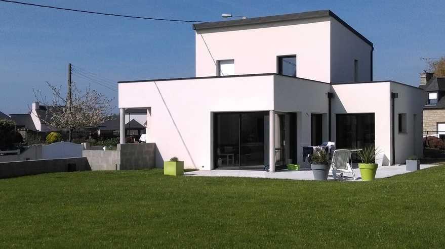maison contemporaine- coeur de ville - saint rene hillion