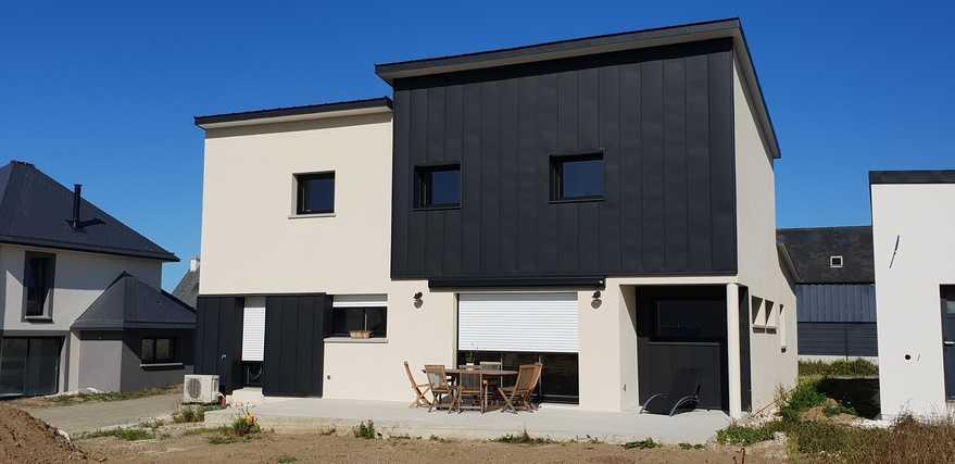 construction maison contemporaine - etable sur mer