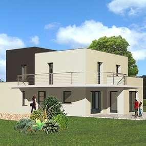 maison toit plat avec balcon ploufragan