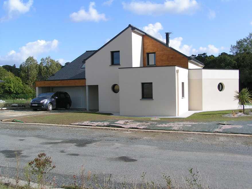 maison avec partie bardage bois